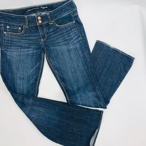 American Eagle Womens Jeans 6 Short Blue Artist